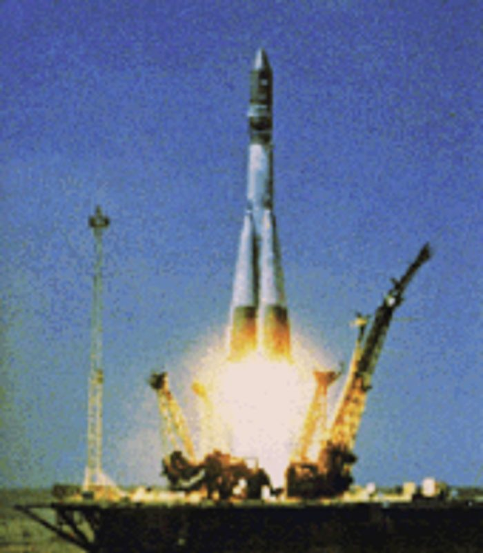 The Vostok 1 launching