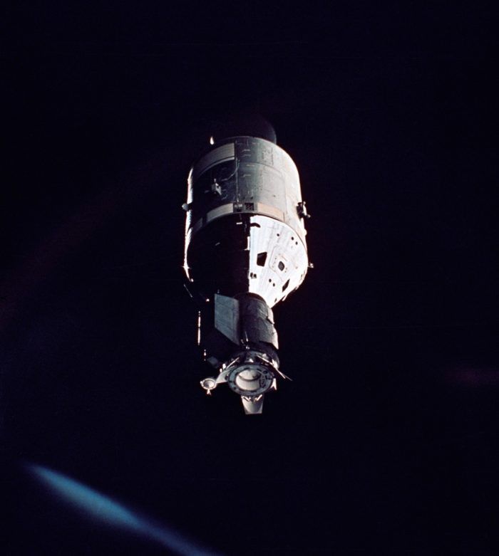 The Apollo as viewed from the Soyuz 19