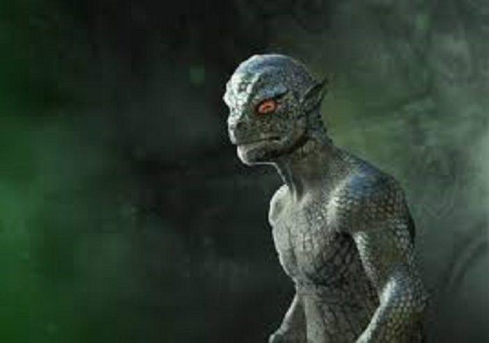A depiction of a reptilian creature