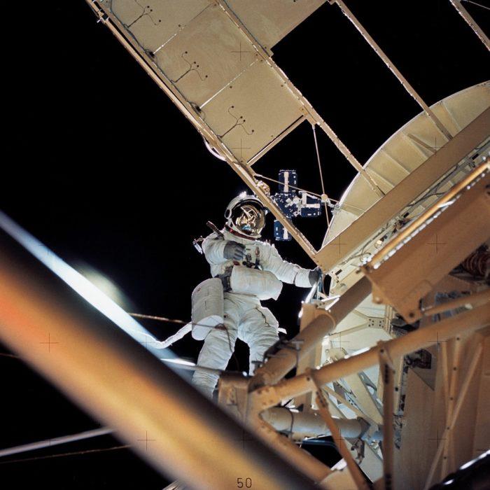 A spacewalk during the Skylab missions
