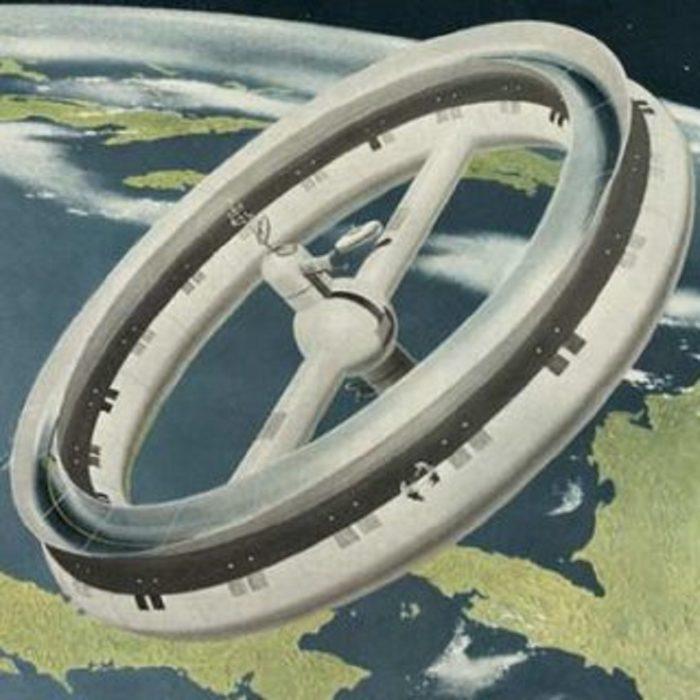 """Von Braun's early """"wheel"""" space station"""