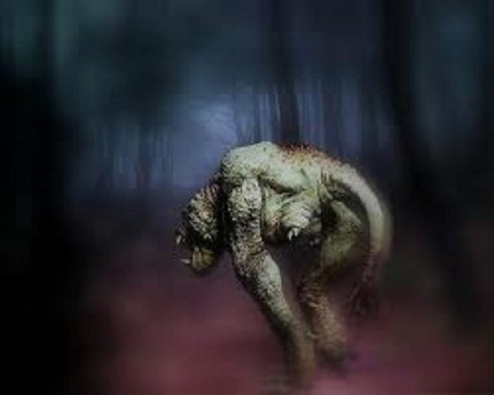 Artist's impression of the Enfield Monster