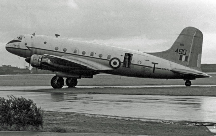 A plane stationed at RAF Topcliffe in the 1950s
