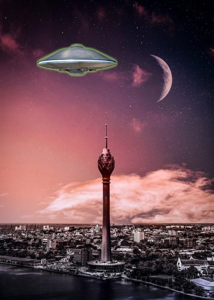 A superimposed UFO over Sri Lanka