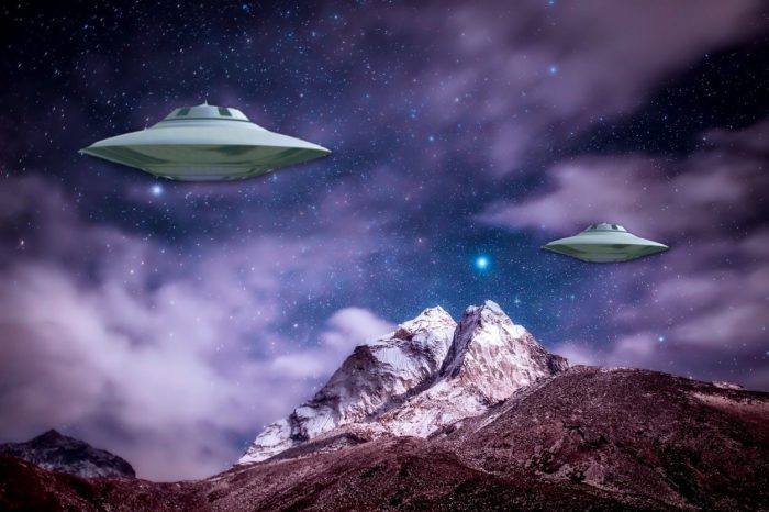 Superimposed UFO over the Himalayas