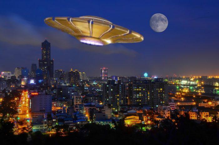 Superimposed UFO over Taiwan