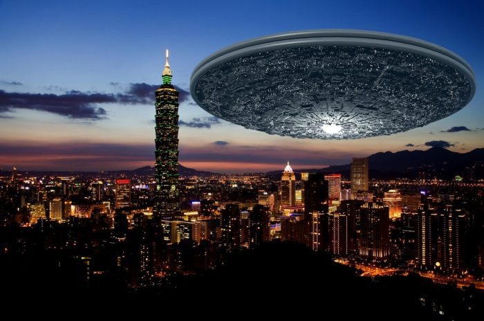 A superimposed UFO over Taiwan