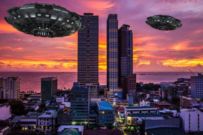 Superimposed UFO over Manila