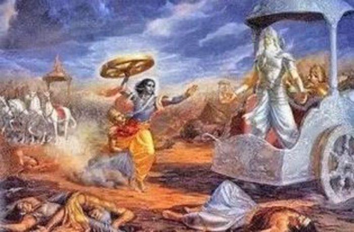 Depiction of the Kurukshetra War