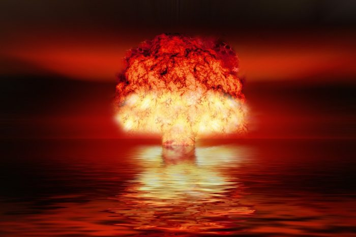 A depiction of a nuclear explosion