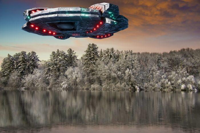 A superimposed UFO over Massachusetts