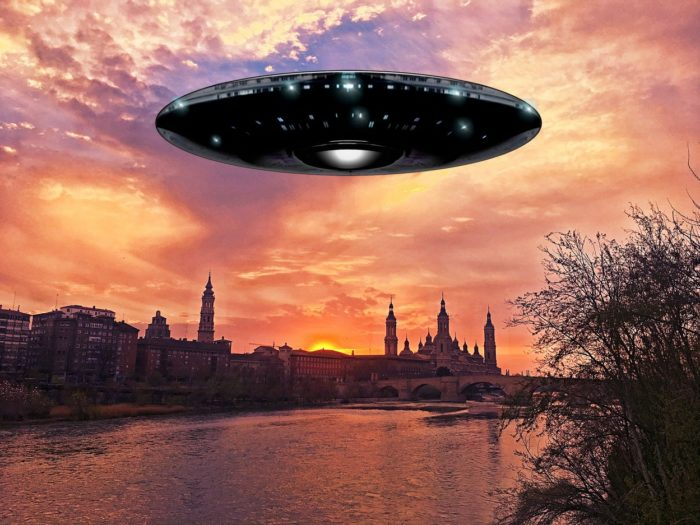 A superimposed UFO over Spain