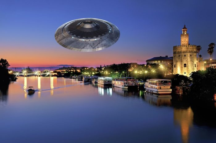A depiction of a UFO in Spain