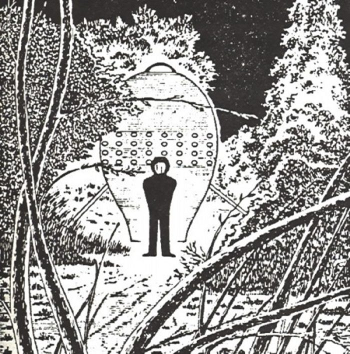 A depiction of the humanoid witnessed by the hunters
