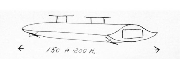 A sketch of the object seen by Adrian Sanchez