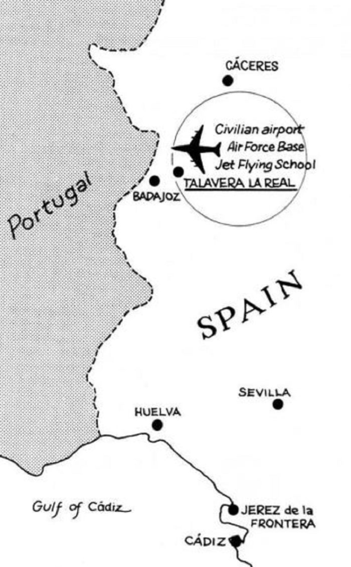 A map showing where the incident took place