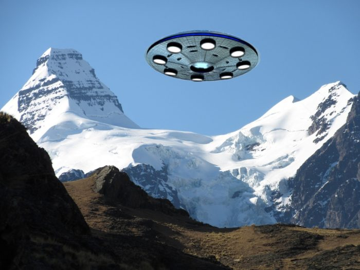 A depiction of a UFO