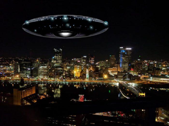A superimposed UFO over Pennsylvania