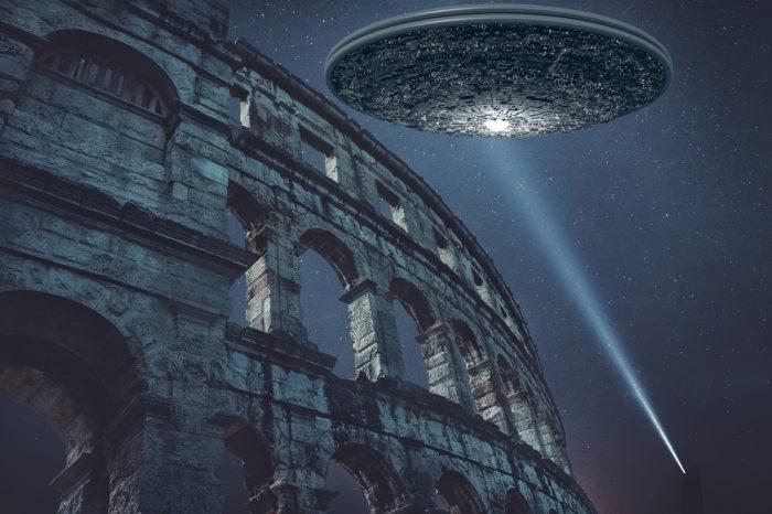 Superimposed UFO over Rome