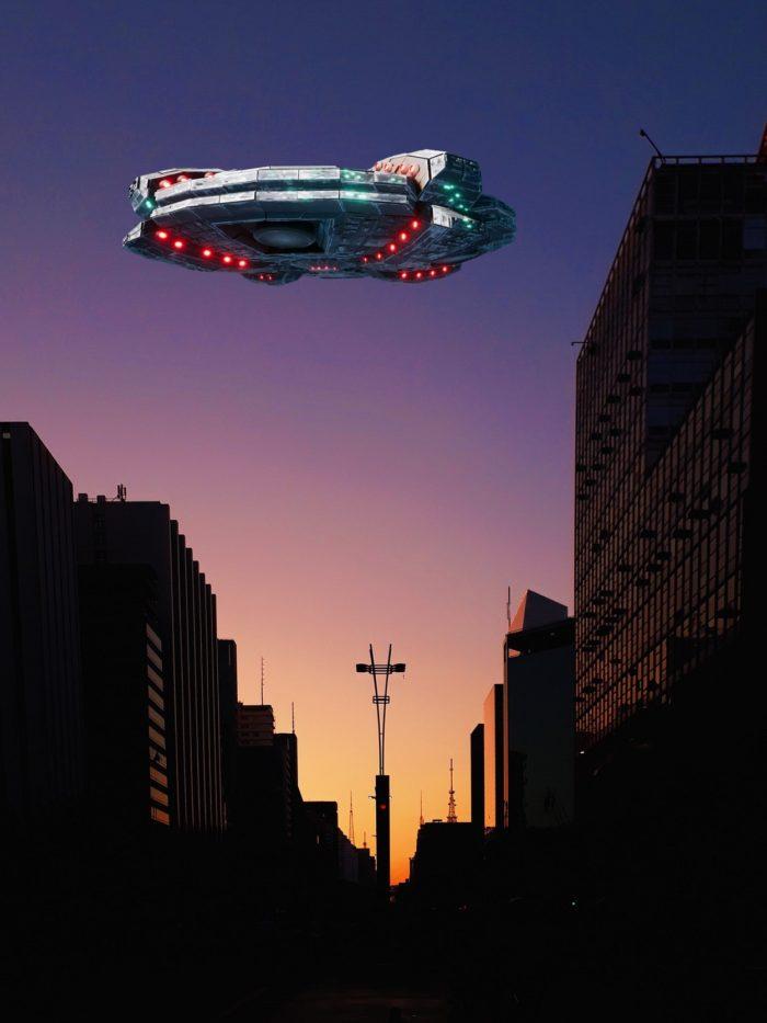 A superimposed UFO over Brazil