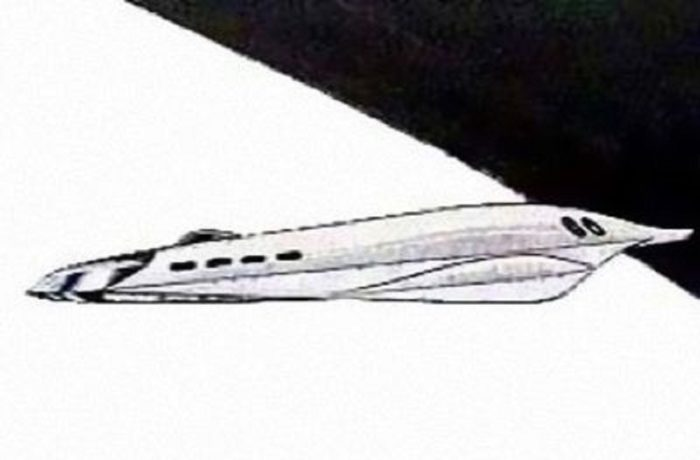 Sketch of the object witnessed by the Soviet cosmonaut