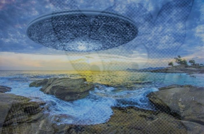 A superimposed UFO off the coast of Brazil