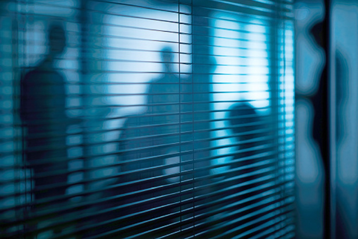 Shadowy figures in a room