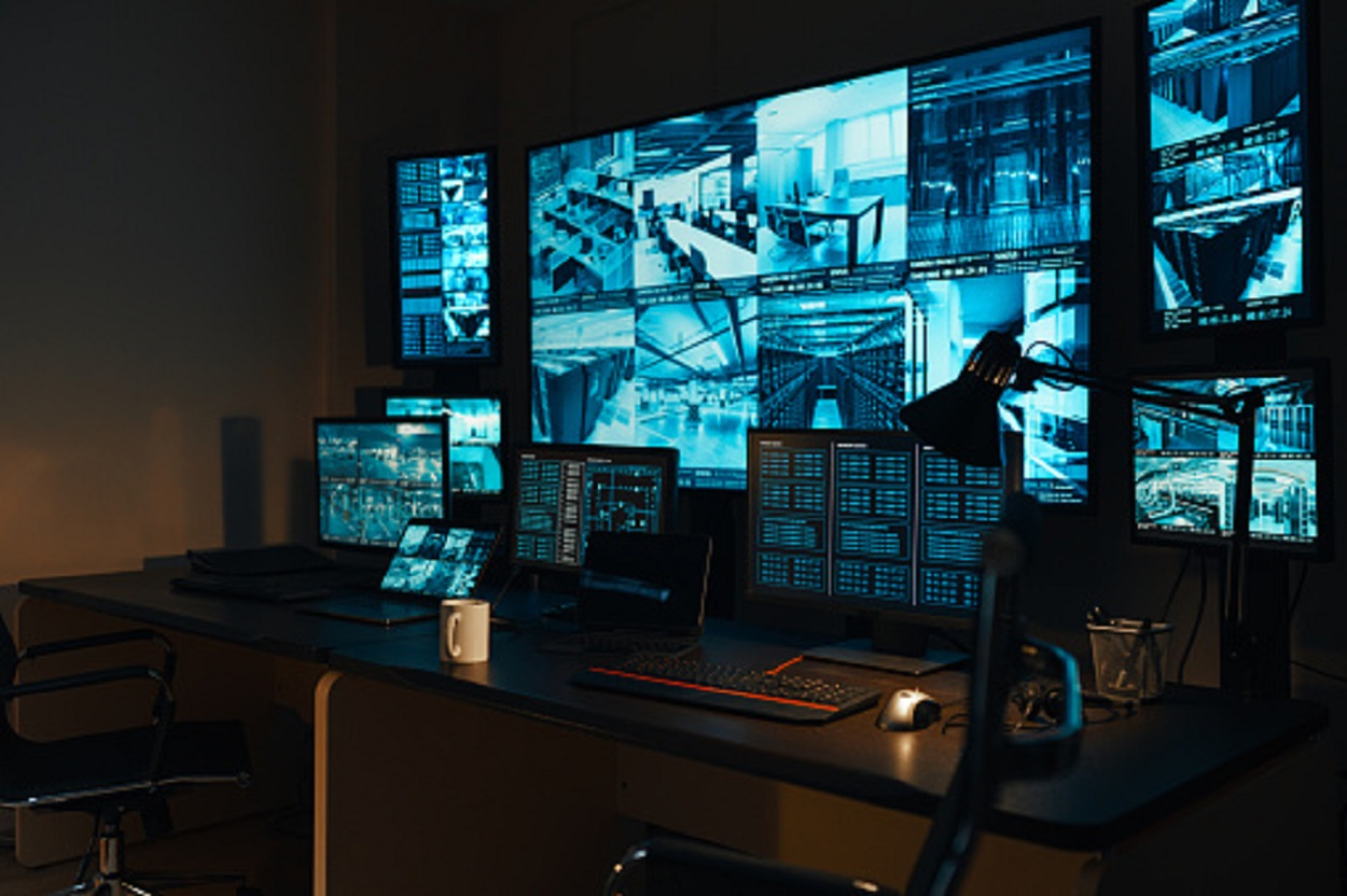 A military control room
