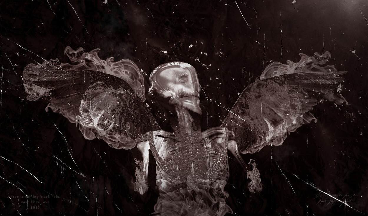 A depiction of a dark angel