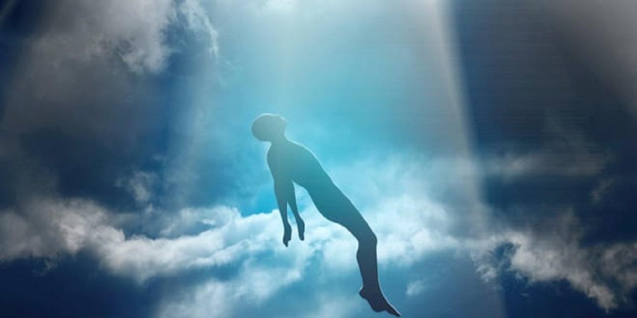 A depiction of an alien abduction