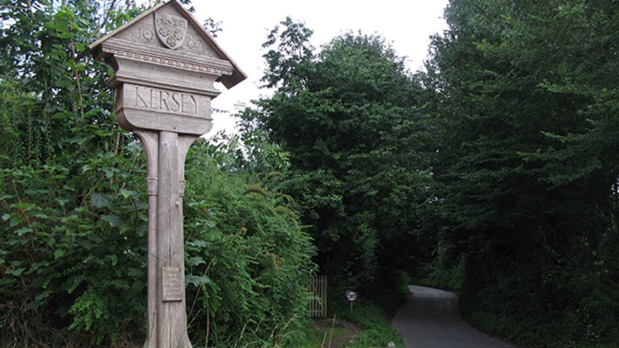 Village sign of Kersey