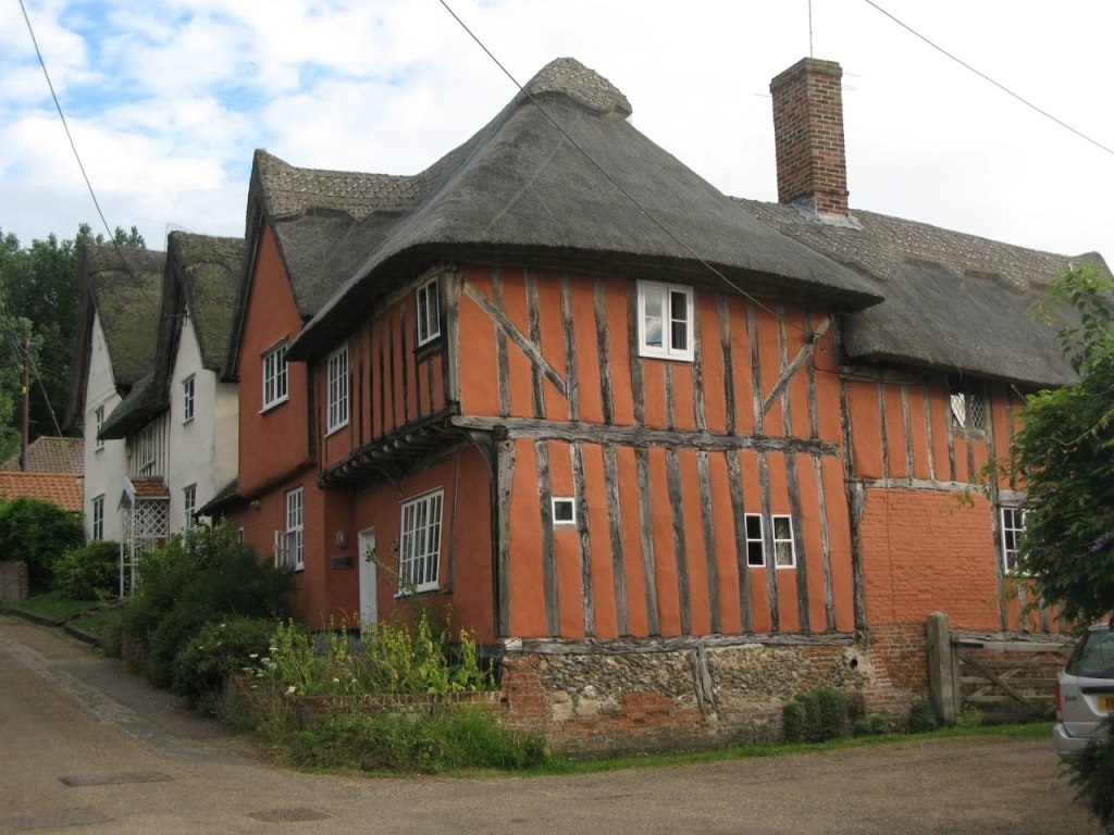 A depiction of many of the old buildings in Kersey