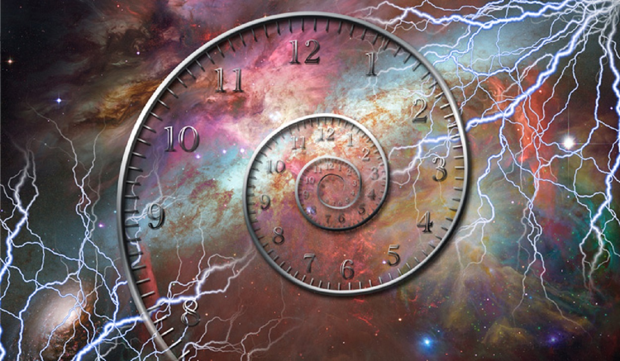 A depiction of time travel