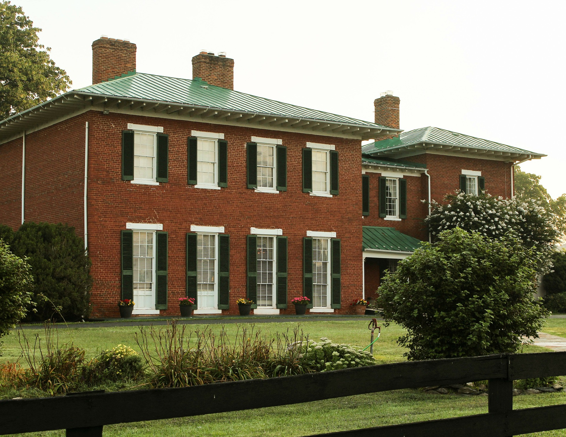 A typical large red brick house